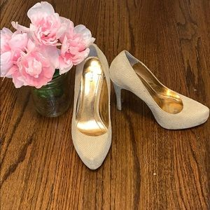 BCBGeneration nude embossed pumps